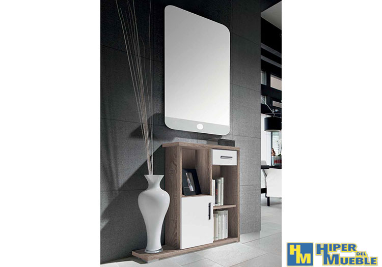 Recibidor con espejo for El hiper del mueble