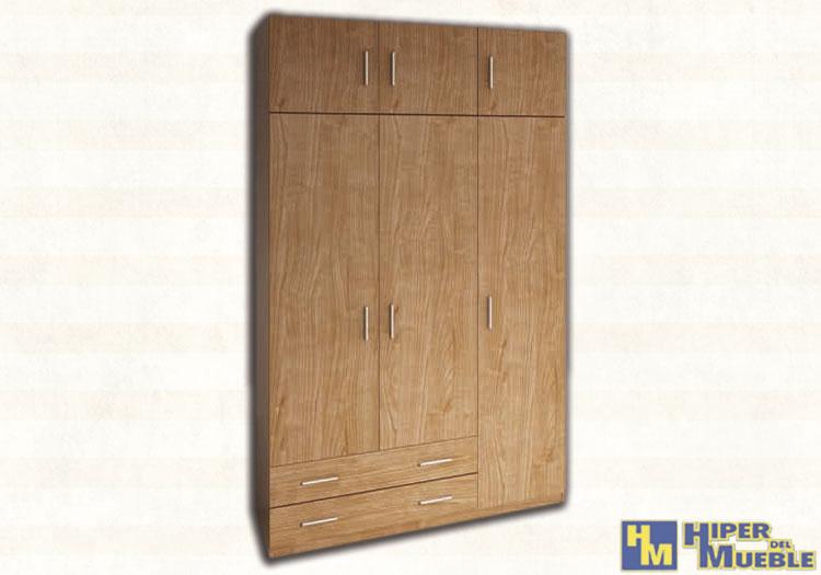 Armario 3 puertas y 2 cajones for El hiper del mueble