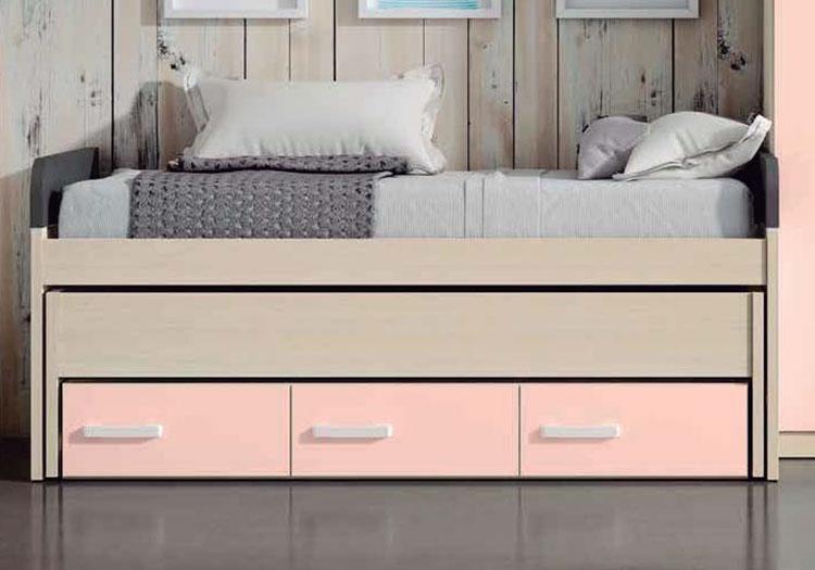 Compacto cama oculta 3 cajones for Muebles baratos terrassa